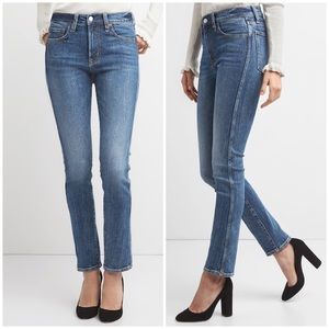 Gap High Rise Slim Straight Shaping Jeans 28 NWT